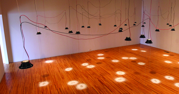 Donna Legault, Cymatic Imprints, 2010, installation, courtesy of the artist.