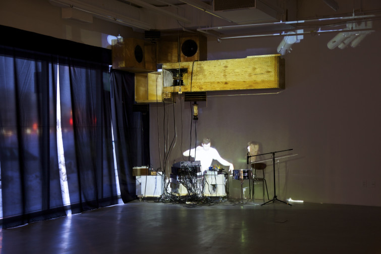 Moon Rehearsal Tape Installation view, photo by William Eakin.