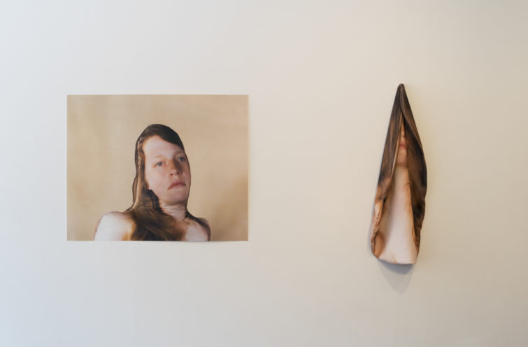 "Hannah Doucet, ""I Never Recognized Her Except in Fragments"", installation view, dimensions variable, photograph by Ashley Bedet."